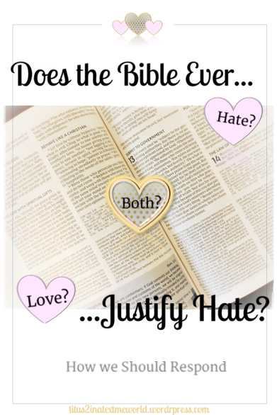 Does the Bible Justify Hate Cover