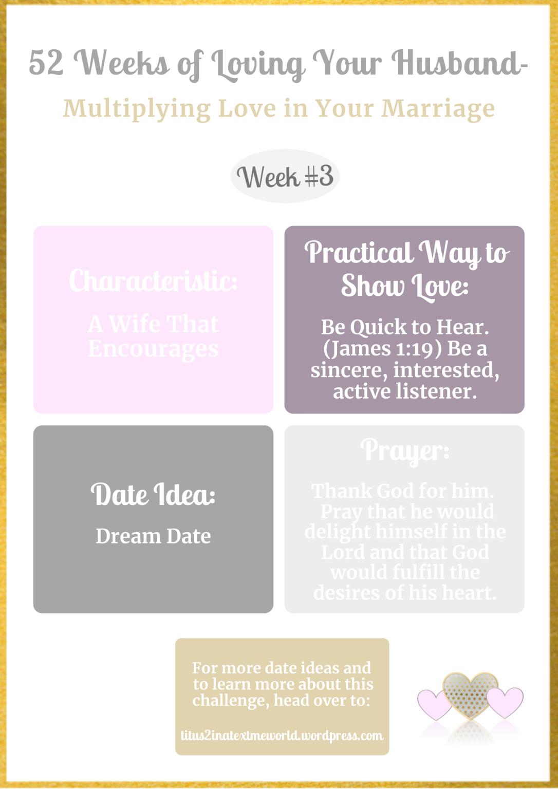 Week #3-Mulitiplying Love in Marriage.