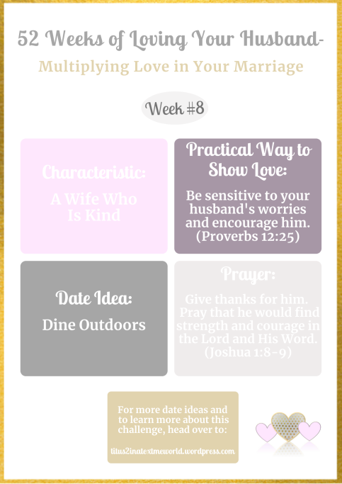 52 Weeks of Multiplying Love in Your Marriage-Loving Your Husband More Challenge Week #8